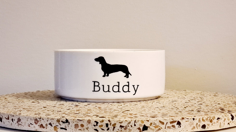 Personalised Dog Bowl - Dog Silhouette