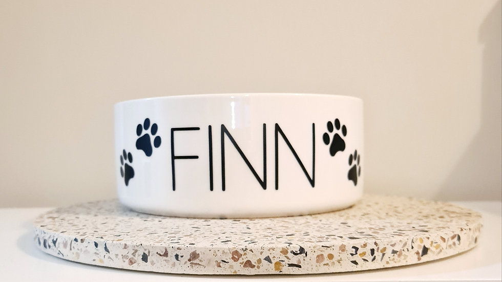 Personalised Dog Bowl - PAW Motif