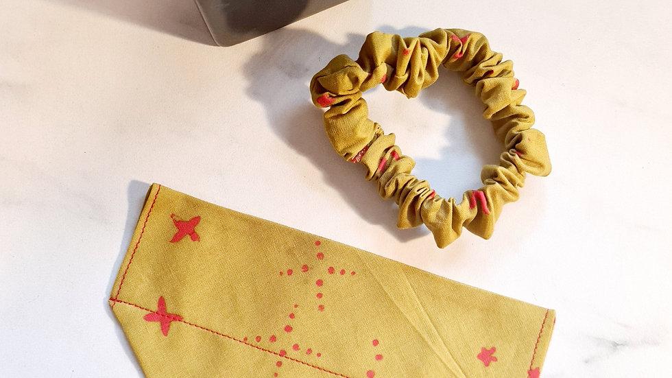 Mustard & Pink Bandana & Scrunchie