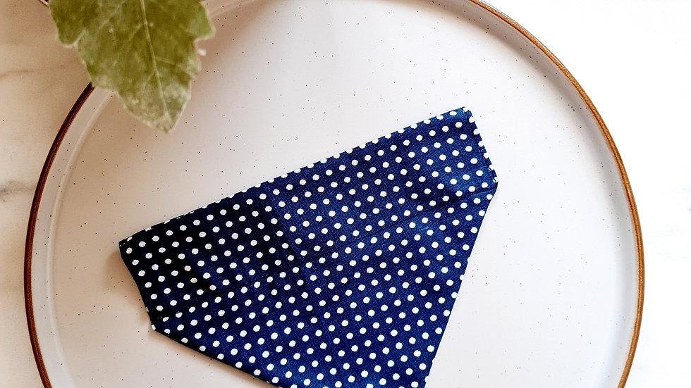 Navy Blue Polka Dot