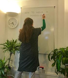 Freya Ingva teaching a Dowsing workshop