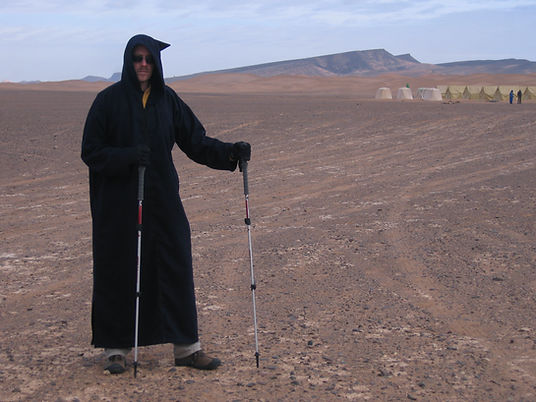 dave with trekking poles in desert.JPG