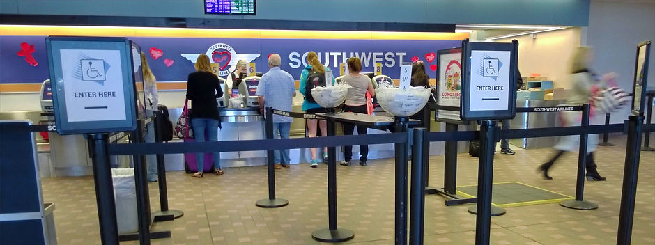 southwest airlines handicapped entrance.