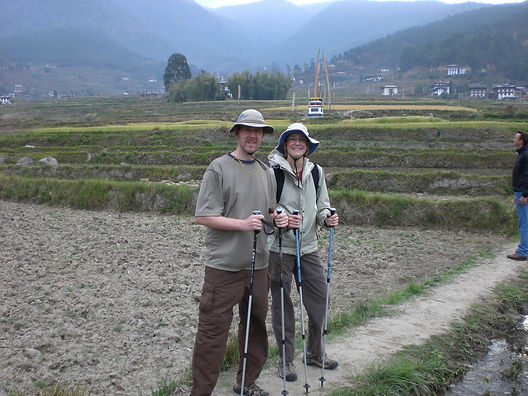 hiking with trekking poles in SE asia.JP