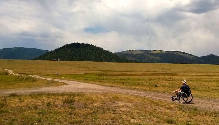 Dave at Valles Caldera NM in offroad whe