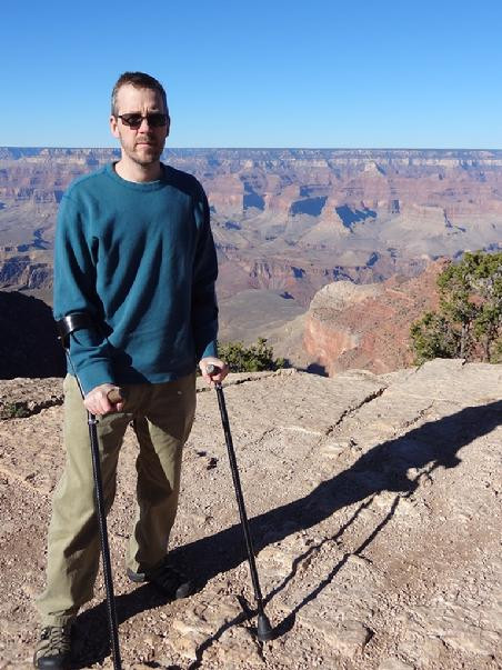 Active MSers Dave Bexfield at the Grand Canyon