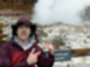 Dave in Yellowstone NP at Steamboat Geys