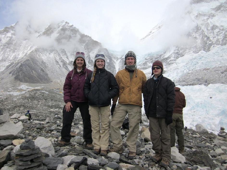 Family at Mount Everest Base Camp