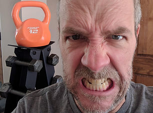 dave bexfield gritting teeth for exercise