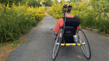 ActiveMSers Dave Bexfield on trike