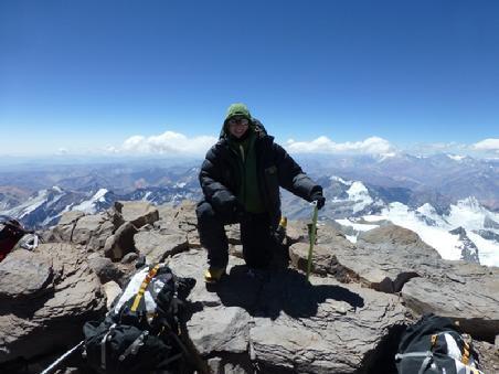 Sarah Conrad with MS summits a mountain