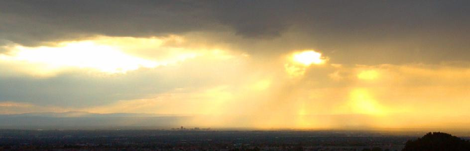 sun rays coming through clouds