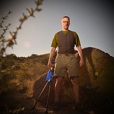 dave hiking cooling vest crutches chair.