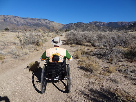 off road wheelchair on trail activemsers