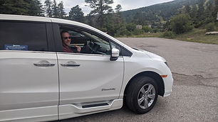 dave in handicapped accessible minivan h