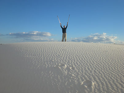 Dave at White Sands NP with forearm crut