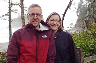 Dave and Laura in a misty forest.JPG