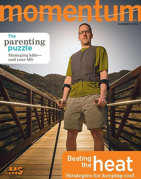 Dave Bexfield on the cover of MS Momentu