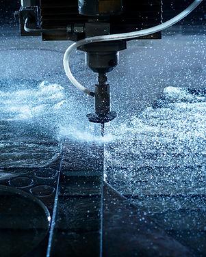 Water jet industrial machine cutting ste