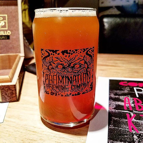 16oz Beermonster Can Glass