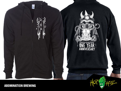 Anniversary Zip-up Hoodie (Black)