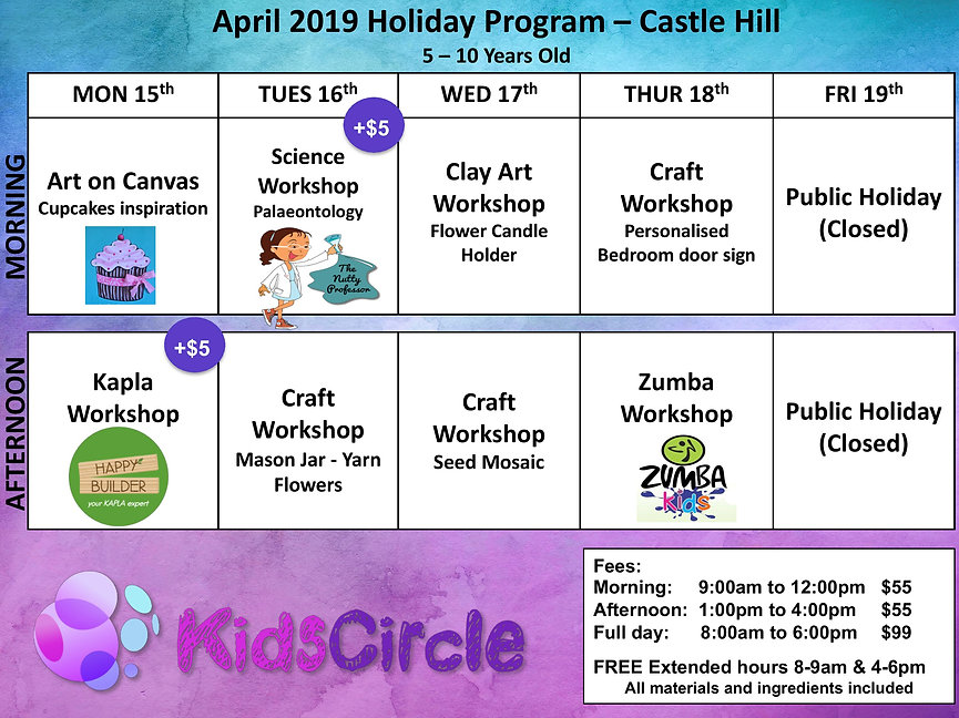 Easter 2019 - Full Price. Castle Hill-pa