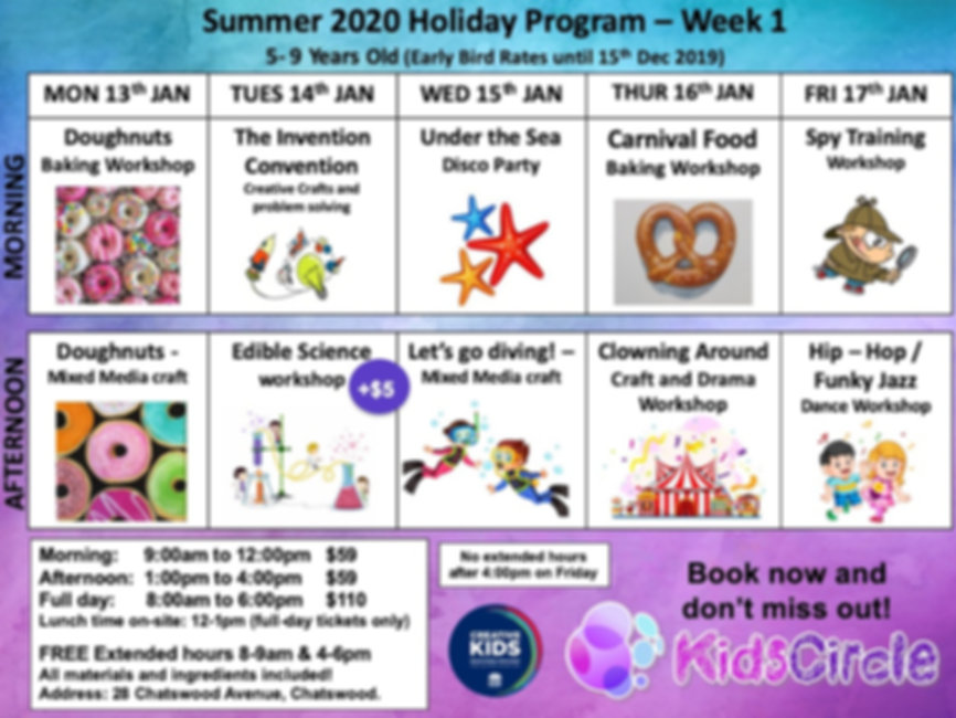 Week 1 - Summer 2020 Early bird until 15