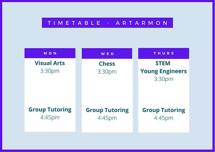 Artarmon Timetable.png