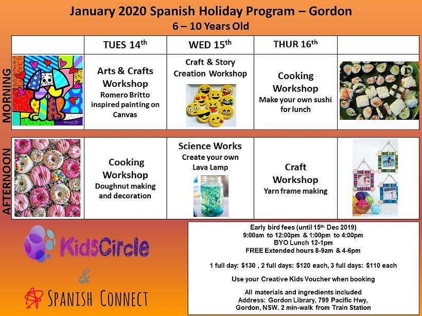 Spanish Program January 2020 - Early Bir