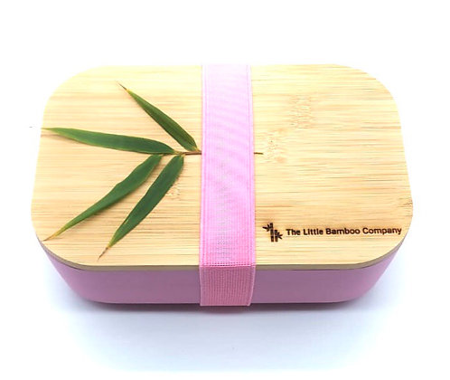 Pink Bamboo Lunchbox
