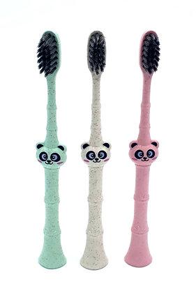 Children's Wheat Straw Panda Toothbrush