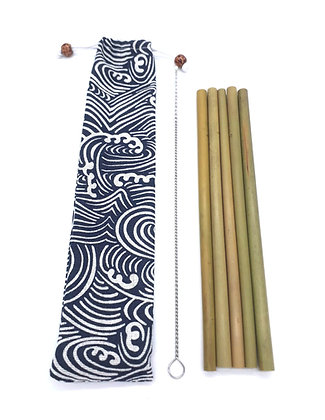 Bamboo Straws in Pouch