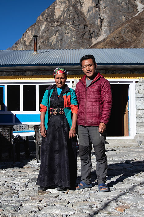 teahouse owner in langtang valley