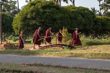 Monks in Bago Myanmar South east asia travel myanmar