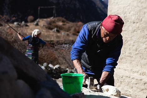 Langtang village resident old man