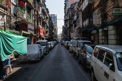 Streets of Yangon Rangun Myanamar