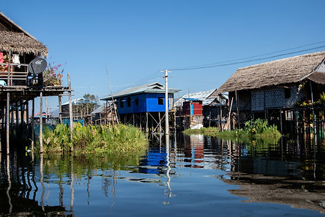 Dorf auf dem Inle Lake. Picture by hungrigaufmeer
