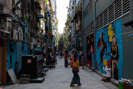 Waziya Cinema Street Yangon Myanamar