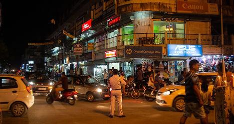 Assam Straßenkontrolle bei Nacht Indien