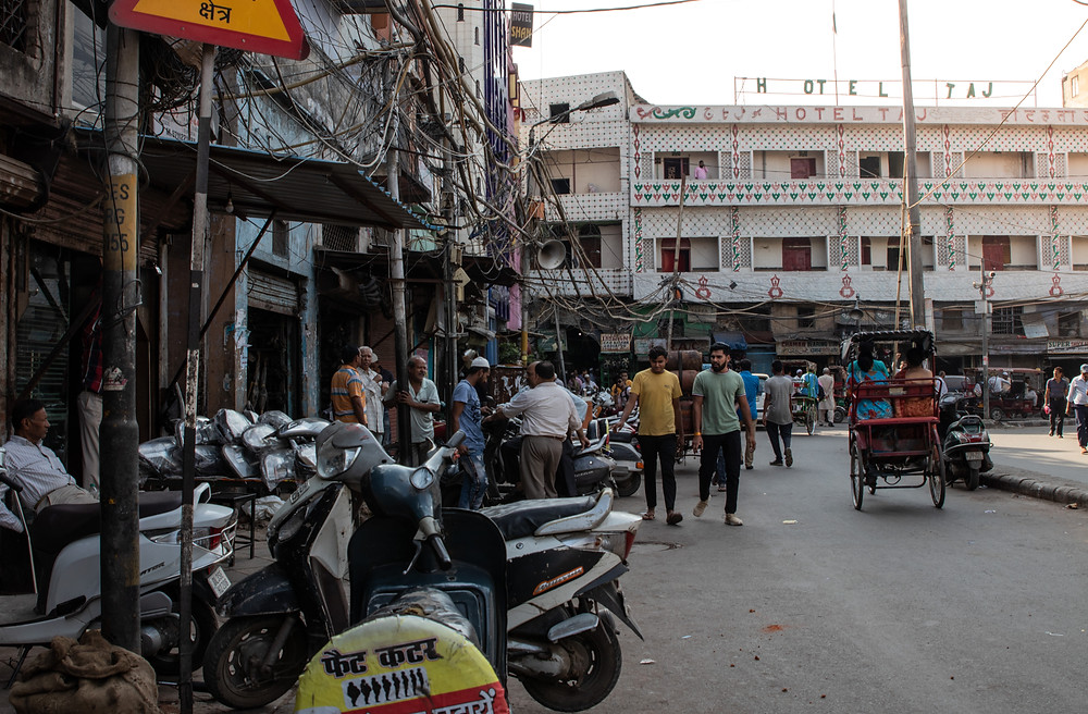 Repair shop street in Old Delhi next to the Jama Masjid Mosque