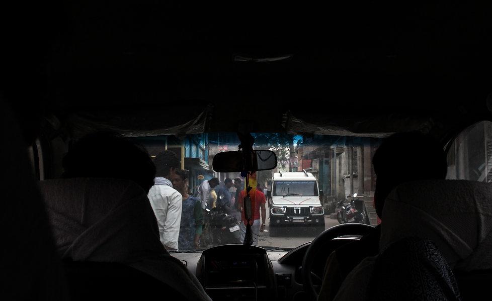 Autofahrt in Indien