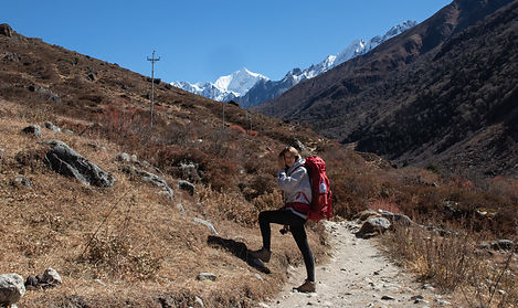 Langtang Valley Yala Peak Nepal Asia mountains