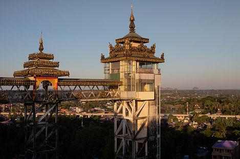 Elevator to the Kyaikthanlan Pagoda picture by hungrigaufmeer
