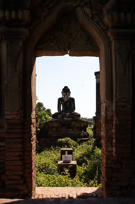 Yadana Hsemee Pagoda in Myanmar southeast asia picture by hungrigaumeer