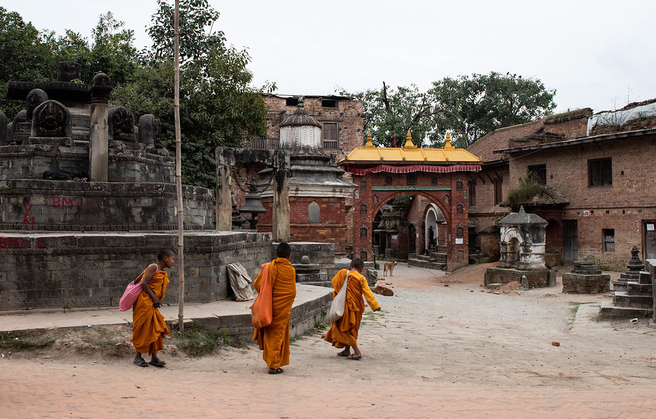 Monks in Bhaktapur.
