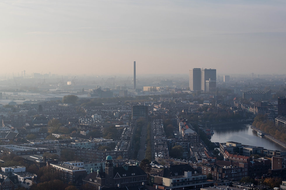 Above Rotterdam from Euromast the netherland