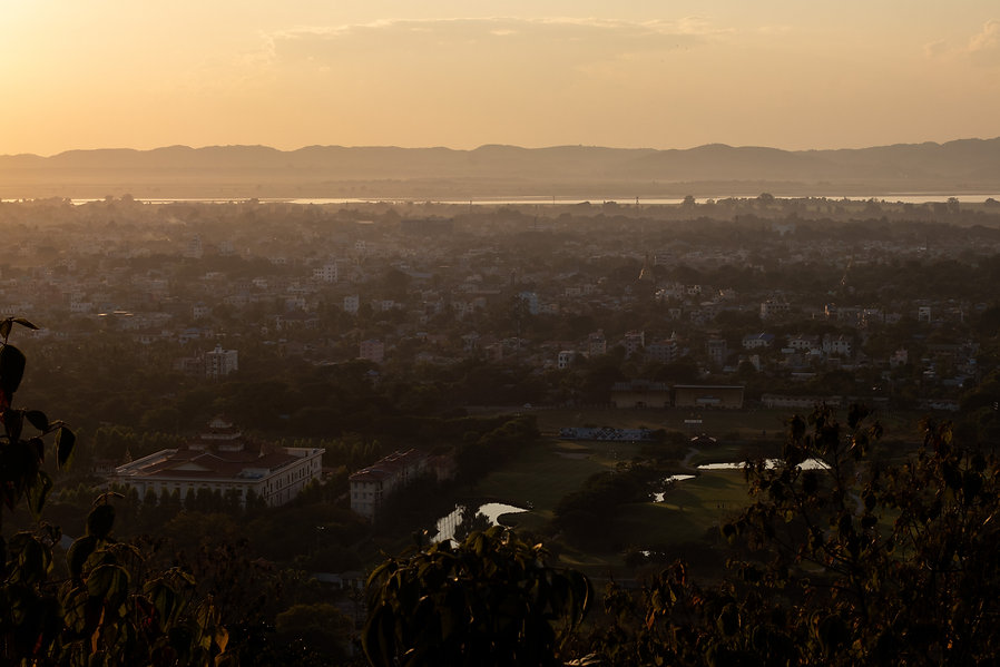 sunset over madalay from mandalay hill myanmar picture by hungrigaufmeer