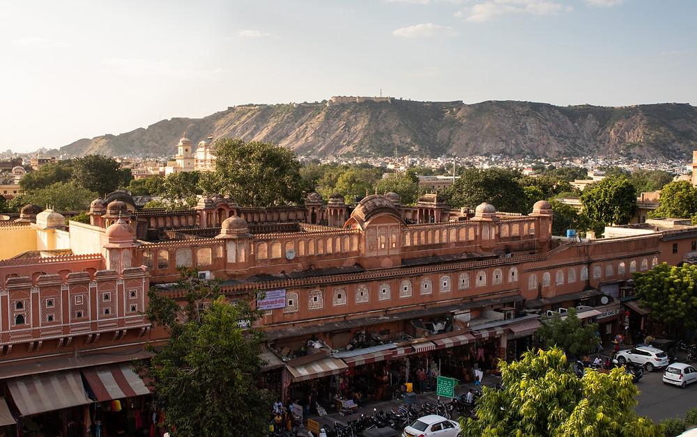 Altstadt von Jaipur am Nachmittag