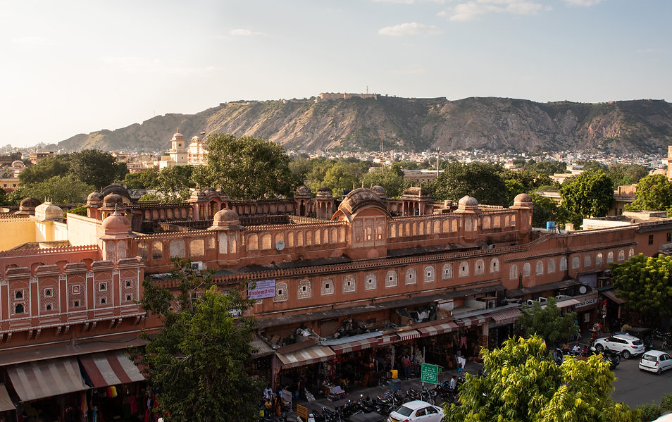 Jaipur view of city sunset