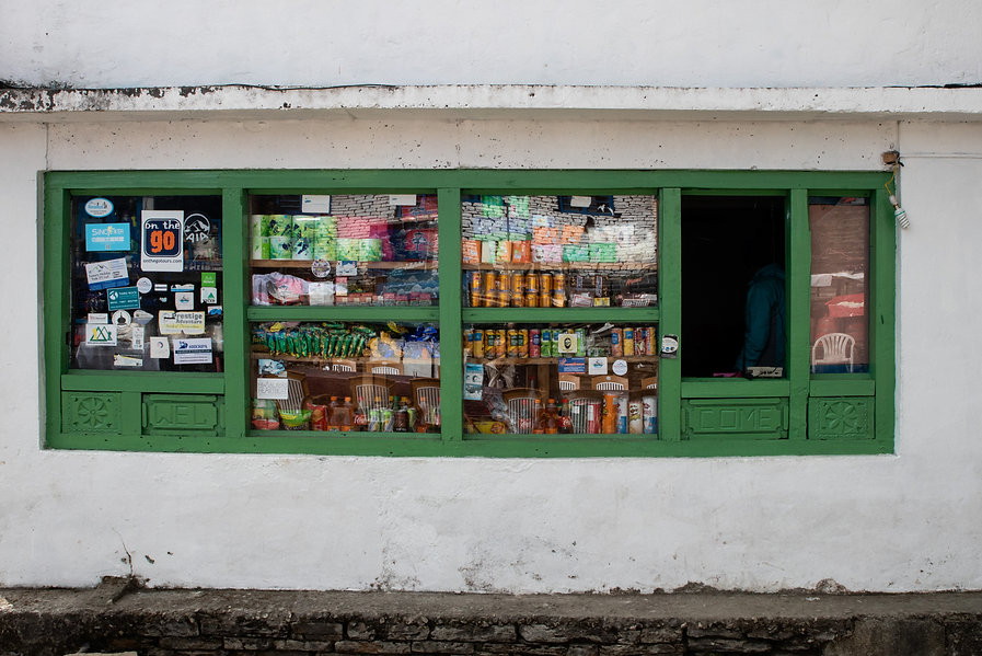 Local grocery store in Tadapani Poon Hill Annapruna national parc Nepal